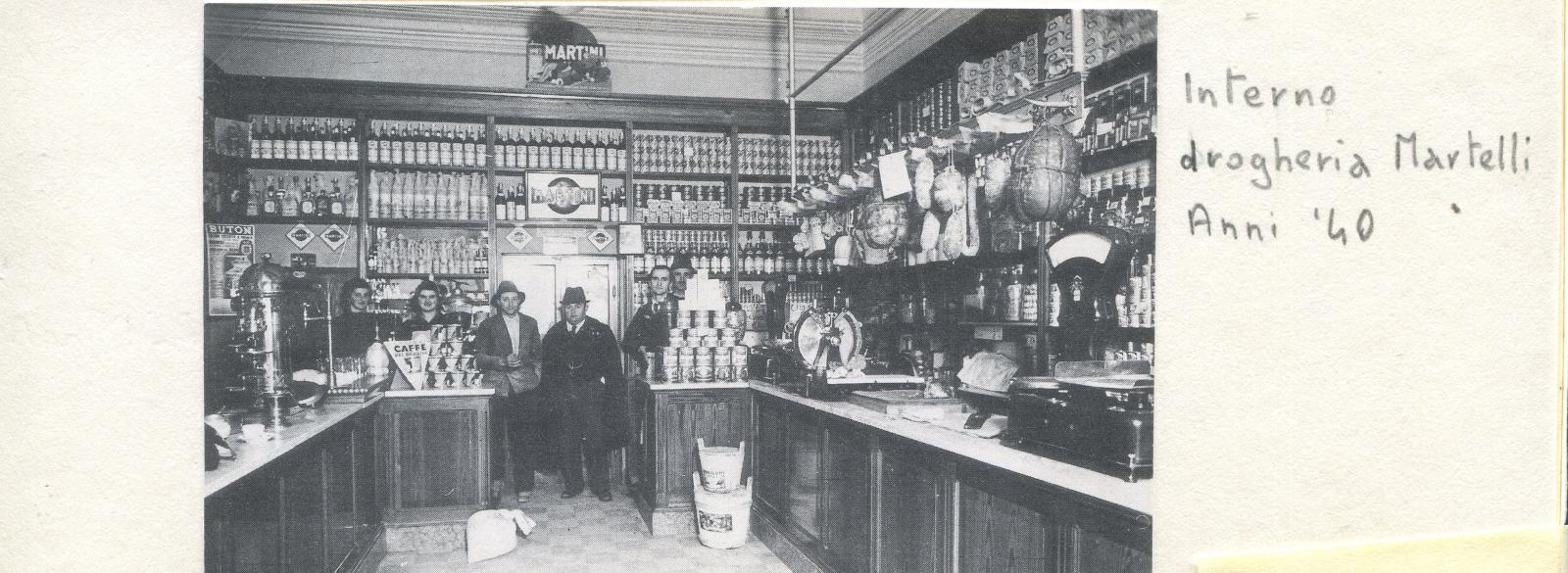 il negozio si trovava nei locali adiacenti al Bar Centrale sulla via Emilia